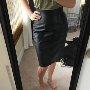 05c99d540 Genuine Leather Pencil Skirt | Skirt Direct